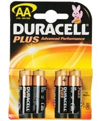 Duracell AA Plus Batteries - Pack of 4