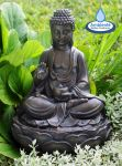 Brown Buddha Water Feature by Ambient� - H39cm