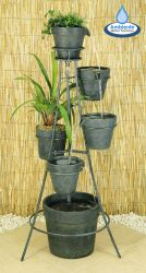 Cascading Pots Water Feature Planter - H1.1m x W50cm