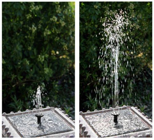 Pizzaro Solar Bird Bath Water Feature With Lights (H80cm) by Solaray�