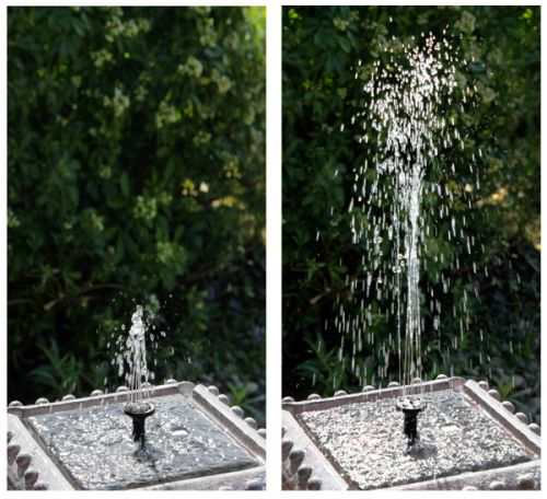 80cm Pizzaro Solar Bird Bath Water Feature With Lights by Solaray™