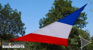 Kookaburra® 5m Triangle Flag of France Waterproof Woven Shade Sail