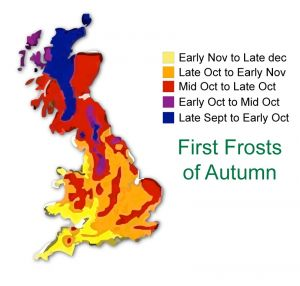 First frosts of Autumn