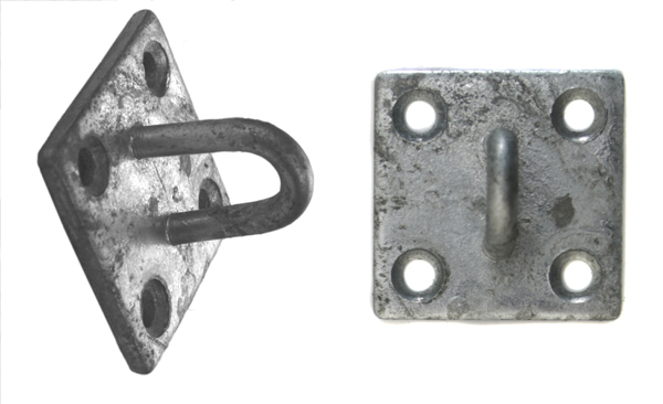 5cm x 5cm Galvanised Pad Eye - Square