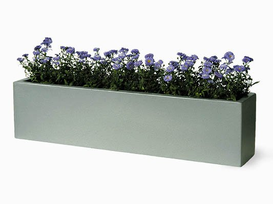 Window Box Fibreglass/Resin Planter - Aluminium H25cm x L1m