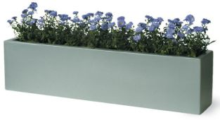 Window Box Fibreglass/Resin Planter - Faux Lead