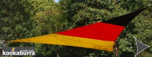 Kookaburra® 5m Triangle Flag of Germany Waterproof Woven Shade Sail