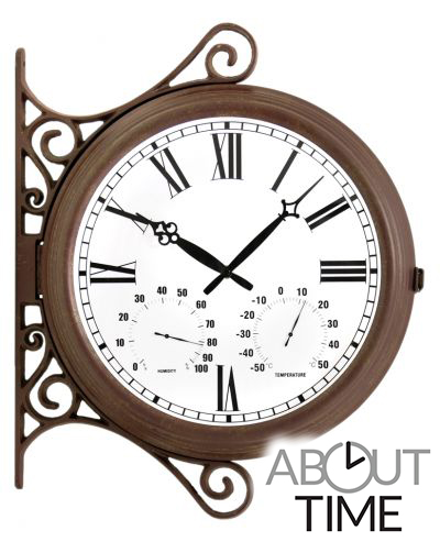 "Double Sided Station Clock - 38cm (15"") - by About Time�"