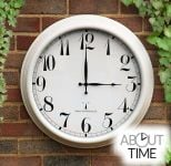 "Perfect Time Radio Controlled Outdoor Clock - 57.5 cm (23"") Antique White - by About Time™"