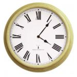 "Perfect Time Radio Controlled Outdoor Garden Clock - Antique White - 38cm (15"") - by About Time™"