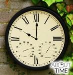 "Radio Controlled Multi function  35cm (13.7"") Outdoor Garden Clock  - by About Time�"