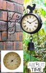 Cockerel and Bell - 47cm (18�in) Outdoor Clock and Thermometer - by About Time�