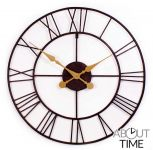 "Open Faced Antique Finish Metal Clock - 76cm (29.9"")  - by About Time�"