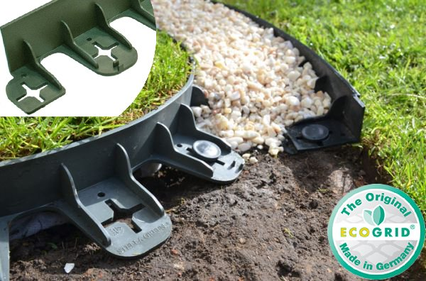 8m Flexible Garden Edging (10x 80cm packs) in Green - H6cm by EcoGrid™