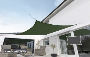 Kookaburra® 3m Square Green Breathable Party Shade Sail (Knitted 185gsm)
