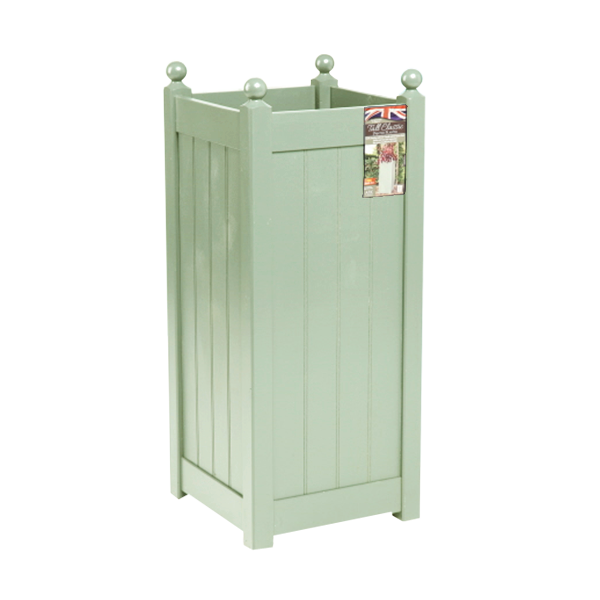 90cm Timber Heritage Sage Green Tall Classic Planter