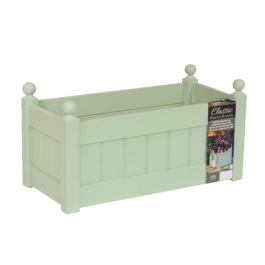 66cm Timber Heritage Sage Green Classic Trough Planter