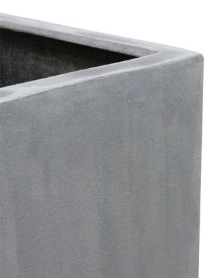 79cm Polystone Large Grey Tall Cube Planter