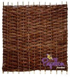Willow Bunch Weave Hurdles Fencing Panel 1.82m x 0.9m (6ft x 3ft) - By Papillon™