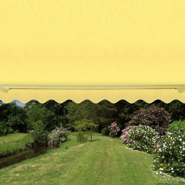 2.0m Standard Manual Awning, Lemon Yellow