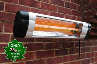 Firefly 1.8kW Wall Mounted Heater with Thermostat and Remote Control
