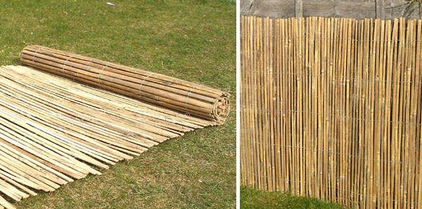 Bamboo Slat Natural Fencing Screening 4.0m x 1.8m (13ft 1in x 6ft) - By Papillon™