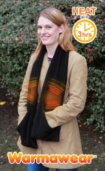 Warmawear™ Battery Operated Heated Scarf - Two Heating Elements