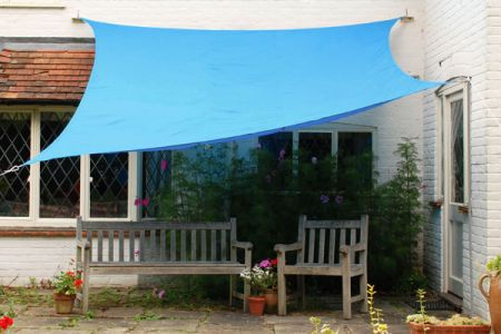 Kookaburra® 3.6m Square Azure Waterproof Woven Shade Sail