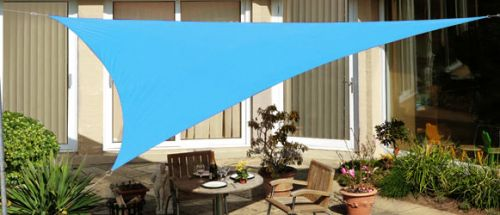 Kookaburra 3.6m Triangle Azure Waterproof Woven Shade Sail