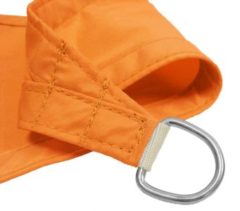 Kookaburra® 5m Triangle Orange Waterproof Woven Shade Sail