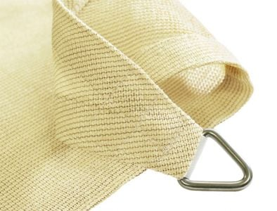 Kookaburra® 5m Triangle Ivory Knitted Breathable Shade Sail (Knitted)