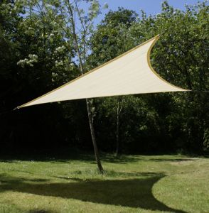 Kookaburra 3.6m Triangle Ivory Knitted Breathable Shade Sail (Knitted)