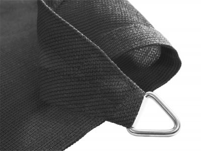 Kookaburra® 3.6m Square Charcoal Breathable Shade Sail (Knitted)