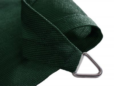 Kookaburra 3.6m Square Green Breathable Party Shade Sail (Knitted 185g)