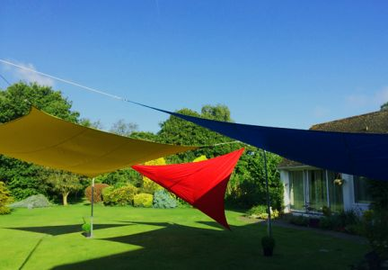 Kookaburra® 3.6m Square Blue Waterproof Woven Shade Sail