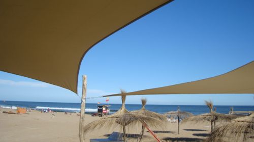 Kookaburra® 3m Triangle Sand Waterproof Woven Shade Sail