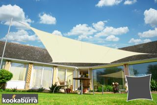 Kookaburra® 2m Square Ivory Waterproof Woven Shade Sail