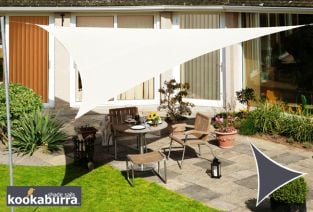 Kookaburra® 2m Triangle Ivory Waterproof Woven Shade Sail