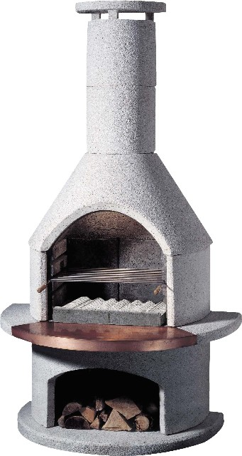 Buschbeck Masonry Outdoor Fireplace (Ronda)