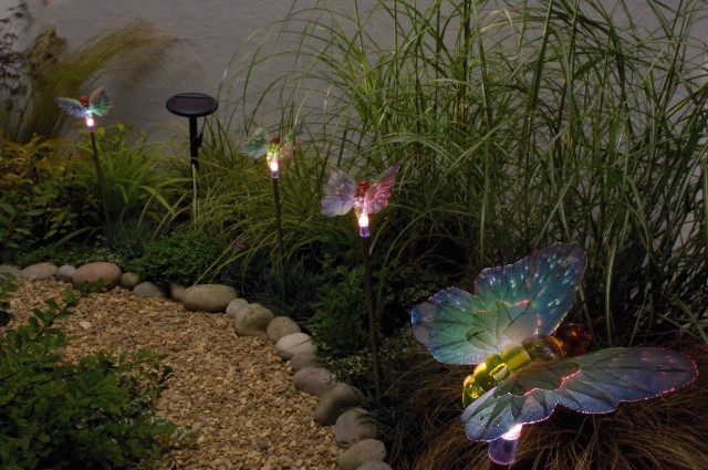 Butterfly Solar Light Set x4