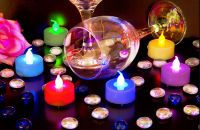 Flicker Flame� LED Colour Changing Tealights - Pack of 6