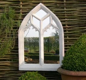 2ft 7in x 1ft 8in Ornate Gothic Outdoor Glass Mirror