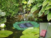 Lily solar fountain by Solaray™ - Remote controlled with LED Lights