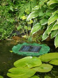 D36cm Floating Lilly Pad Solar Water Fountain by Solaray