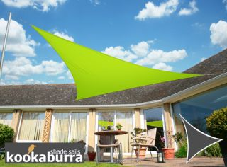 Kookaburra® 2m Triangle Lime Green Waterproof Woven Shade Sail
