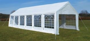 Standard Marquee 4m x 12m, 180g /m² Waterproof PE, Free Ground Bar