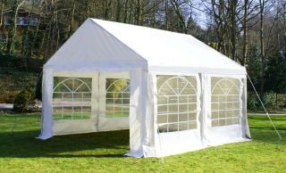 Luxury Marquee 4m x 4m, 380g /m² Waterproof PVC , 38mm Steel Frame