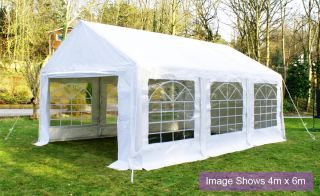 Luxury Marquee 3m x 6m, 380g /m² Waterproof PVC , 38mm Steel Frame