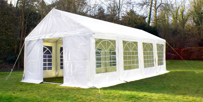 Luxury Marquee 4m x 8m, 380g /m² Waterproof PVC , 38mm Steel Frame