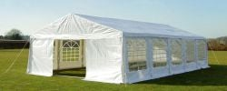 Luxury Marquee 6m x 10m, 380g /m² Waterproof PVC , 38mm Steel Frame